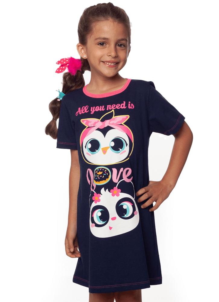 f3183d0e9e7cd8 Camisola Manga Curta I Love Pinguim Kids - puket