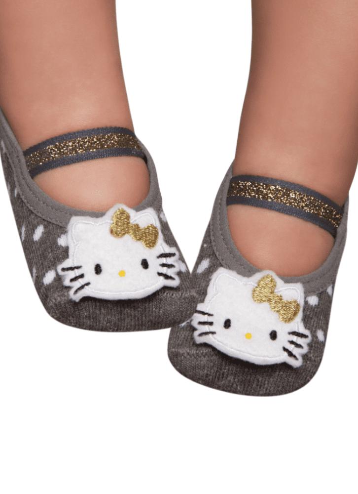 a334c029a90f5d Meia Sapatilha Boneca Com Aplique Hello Kitty Rn - puket