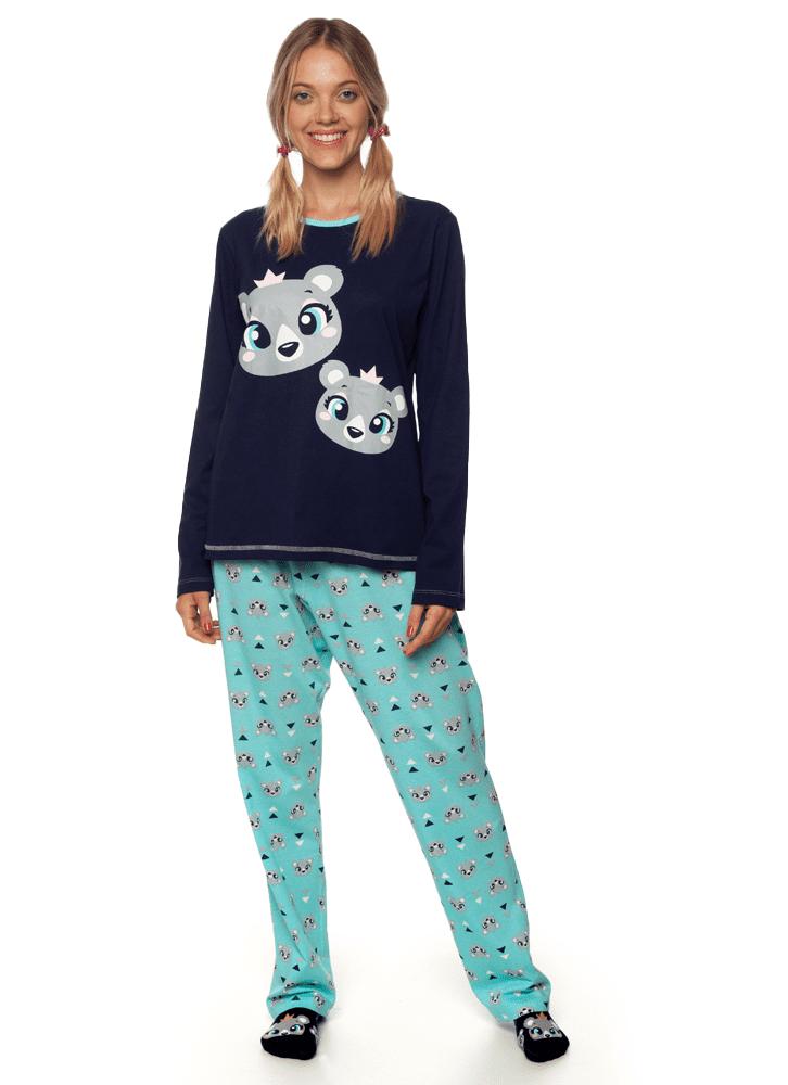 b88318e51648d7 Pijama Manga Longa Urso Adulto - puket