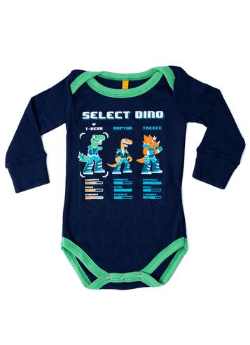 Pijama Manga Longa Dino Baby