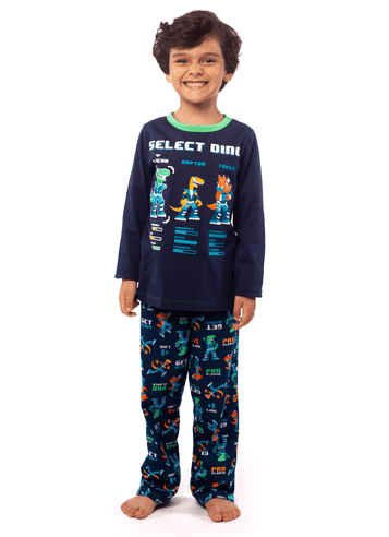 Pijama Manga Longa Dino Kids