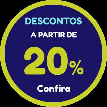 Descontos a partir de 20%