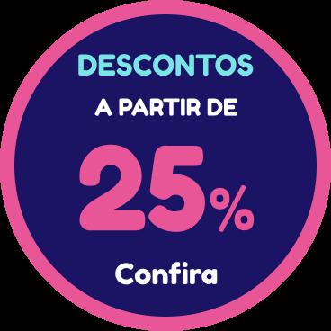 Descontos a partir de 25%