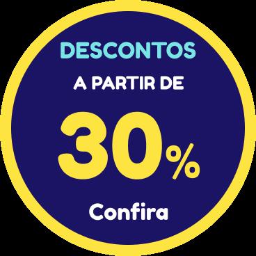 Descontos a partir de 30%