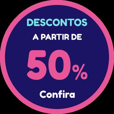 Descontos a partir de 50%