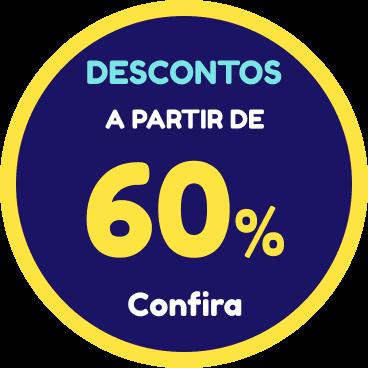 Descontos a partir de 60%