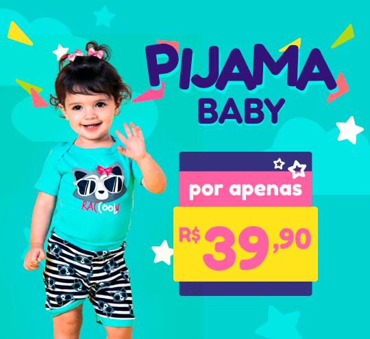 Banner com a Promoção de Pijamas Baby por apenas R$ 39,90