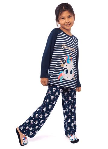 Pijama Manga Longa Viscolycra Menina Unicórnio