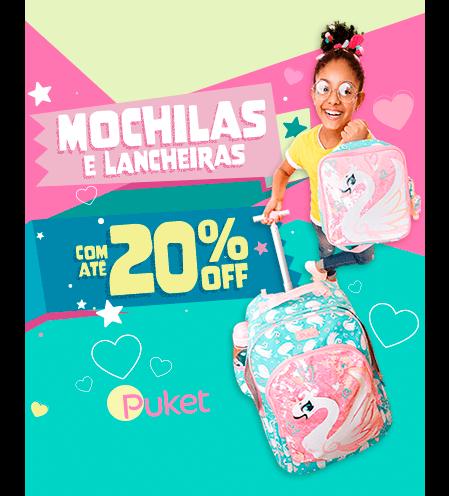 Mochilas e Lancheiras com até 20% de desconto!