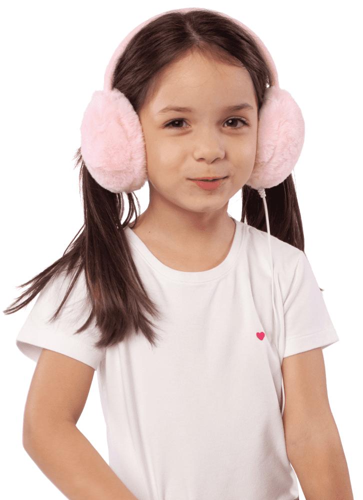 Fone de Ouvido Fashion Pelinho Rosa