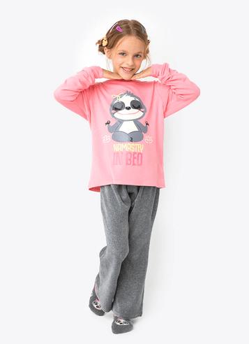 Pijama Manga Longa Plush Infantil Preguiça