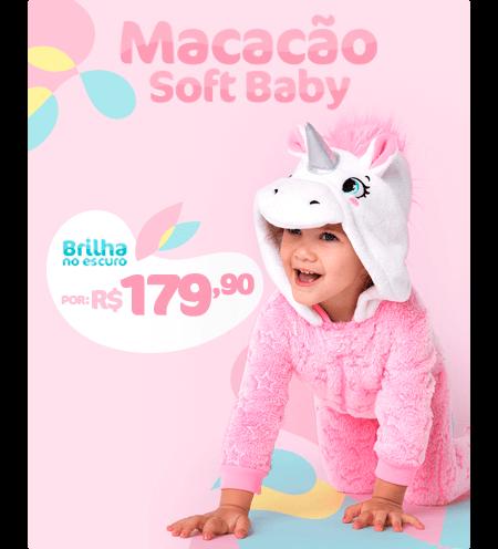 Macacão Soft Baby que brilha no escuro! Por R$ 179,90
