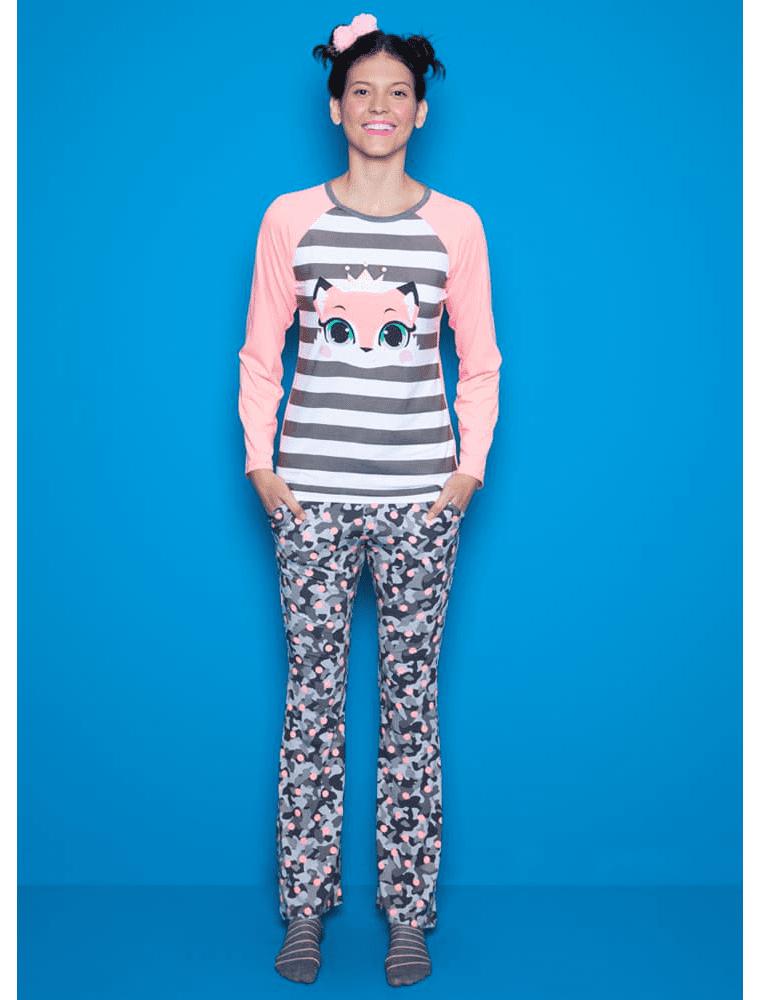 e1954196a Pijama Manga Longa Raposa - puket