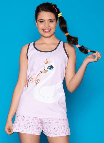 44f740534 Puket · Pijama Curto Regata Cisne Adulto