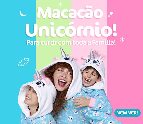 Banner A: Macacão Unicórnio, para curtir com toda a família!