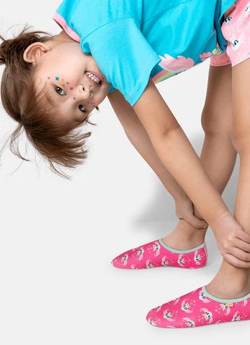 Sapatilha Antiderrapante Menina Unicórnio