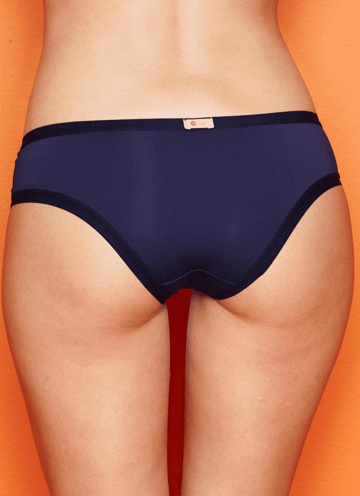 Calcinha Boneca Básica Microfibra Adulto Azul