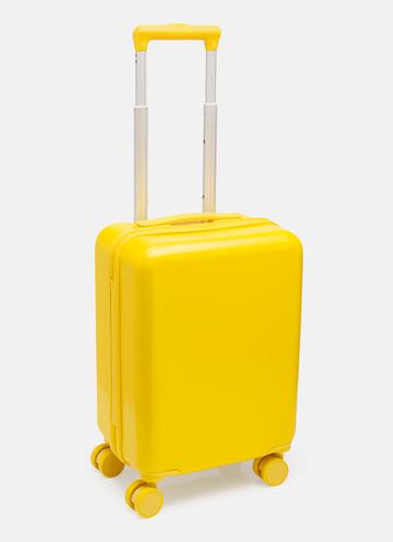Mala de Viagem Amarelo Com Adesivos Minions