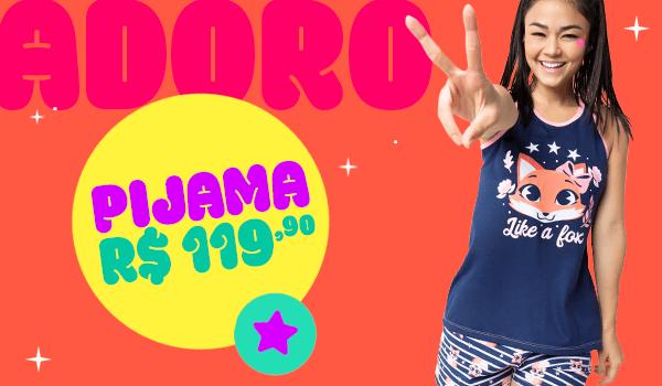 Banner B: Pijama de raposa! Por 119,90