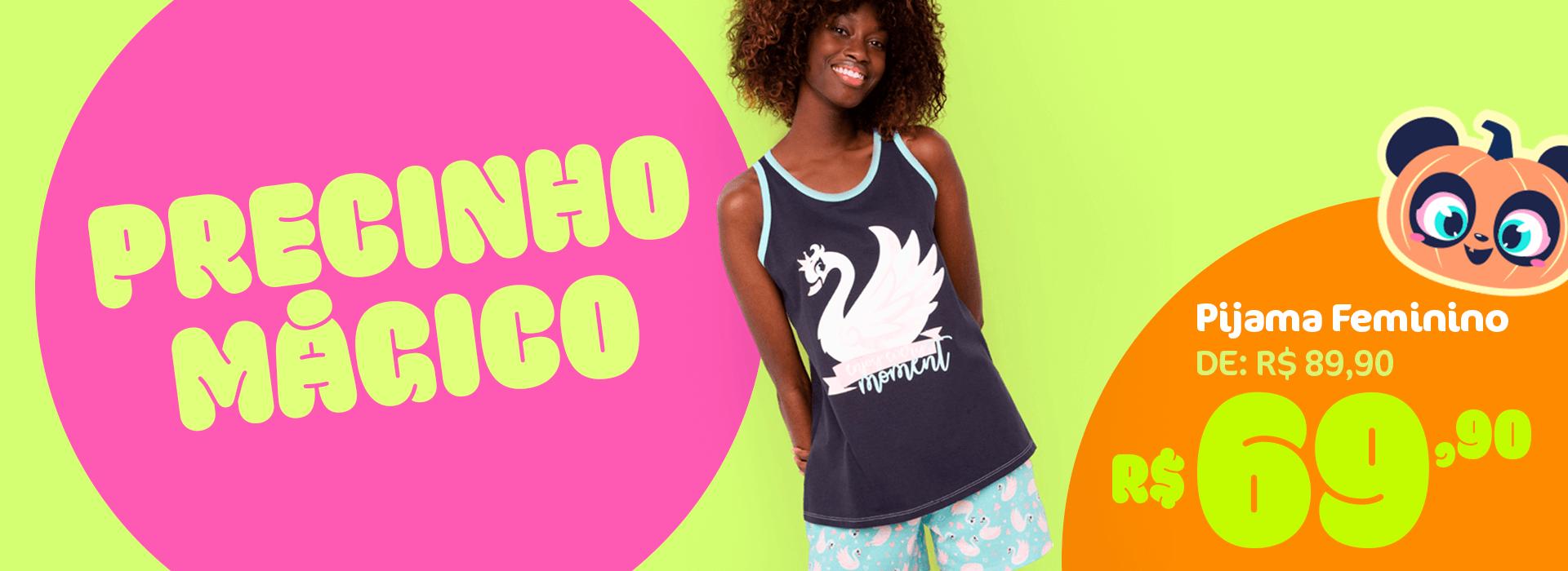 Banner B: Pijama Cisne Feminino de 89,90 por 69,90